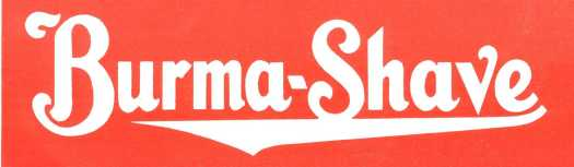 Image result for Burma-shave